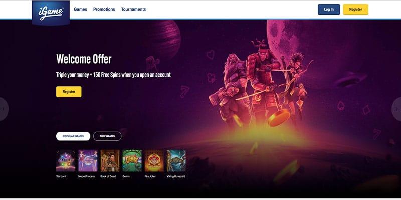 Revisión de iGame Casino: descripción general e información de promociones
