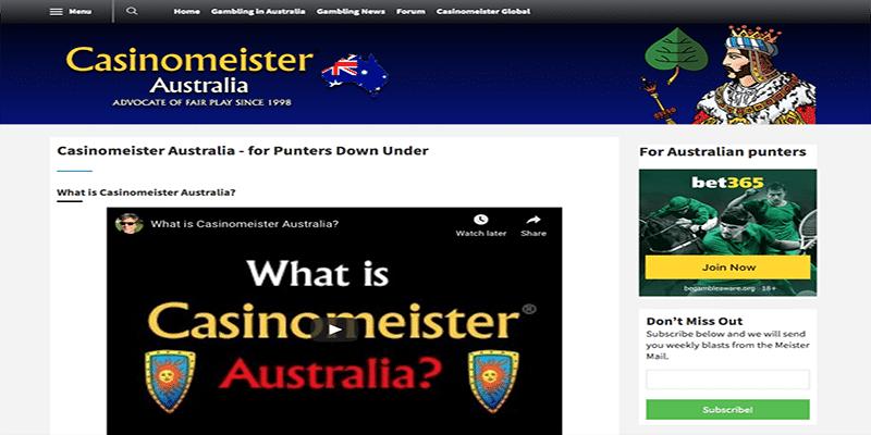 Casinomeister Australia: se necesita información para el jugador australiano