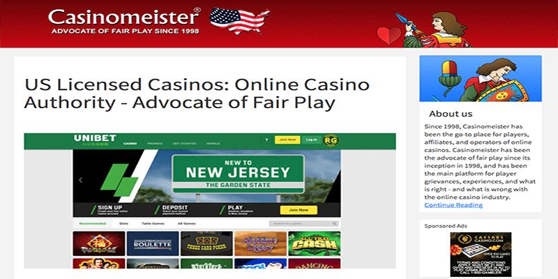 Casinomeister US – Información sobre juegos regulados en EE. UU.